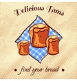 Bread On A Napkin 16 vector image