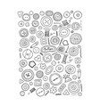 buttons collection sketch for your design vector image