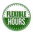 flexible hours sign or stamp vector image