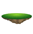 flying island with grass vector image