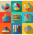 Set of modern flat infographic elements - pie vector image