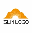 Sun logo template set icon vector image