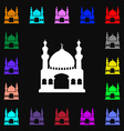 Turkish architecture mosque icon sign Lots of vector image