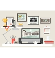 Flat Room Workspace vector image