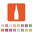 The champagne icon Wine symbol Flat vector image
