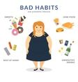 Happy fat woman vector image