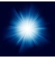 blue star burst vector image vector image