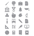 Gray school icons set vector
