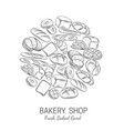 bakery bread shop poster template vector image