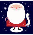 Beautiful cute Santa with delivery note vector image