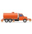 cargo truck 18 vector image