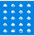 Cloud computing flat icons vector image