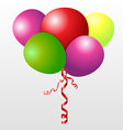 Color set balloons vector image