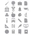 Gray school icons set vector image