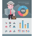 Insurance infographics elements vector image