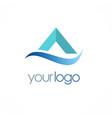 letter a business logo vector image
