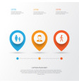 person icons set collection of jogging family vector image
