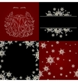 set of cristmas background snowflake santa beard vector image