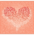 St Valentine Love Red Heart Card 5 vector image