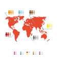world population statistic vector image