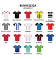 Bundesliga jerseys 2016 - 2017 German football vector image vector image