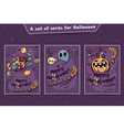 Set of cards Halloween doodles vector image vector image