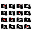 Jolly Roger Pirate flag Skull and crossbones vector image vector image