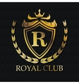 Royal club gold emblem design vector image