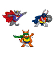 Superheroes vector image vector image