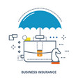 concept of business insurance deposit protection vector image