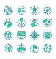 navigation outline location pin pictogram icons vector image