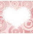 grunge valentines vector image vector image