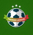 Badge and ribbon football Design Element vector image vector image