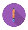 Pen single icon vector image vector image