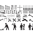 Pictogram people with tools vector image