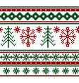 seamless knitted christmas pattern vector image vector image