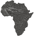 Map of Africa in crocodile camouflage vector image