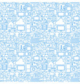 Thin Line Internet of Things White Seamless vector image