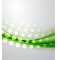 Abstract green wave vector image vector image