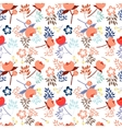 seamless pattern with beautiful flower vector image