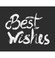 Best wishes - perfect design element vector image