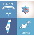 Four icons of Israel vector image