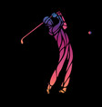 silhouette of golf player eps10 vector image
