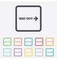 Way out right sign icon Arrow symbol vector image