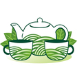 Green tea vector image