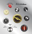 vintage knobs set 2 vector image