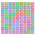 3d square mosaic vintage colorful texture vector image