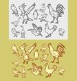 Bird sketch 1 vector image vector image