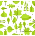 Spring green withered leaves seamless pattern vector image