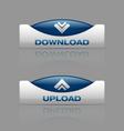 Download upload blue vector image vector image